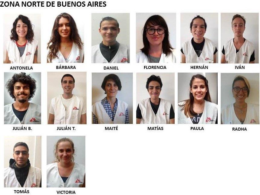 Equipos de captadores Médicos Sin Fronteras zona norte