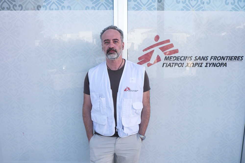 Psiquiatra clínico de MSF en el capo de refugiados en Grecia.