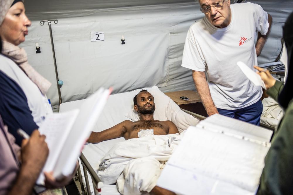 Sultan Ahmad, de 35 años, panadero herido por una mina.