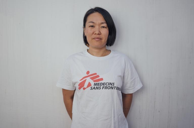 Marina Kojima, comadrona, 35 años, Japón. Esta es la décima misión de Marina con MSF.
