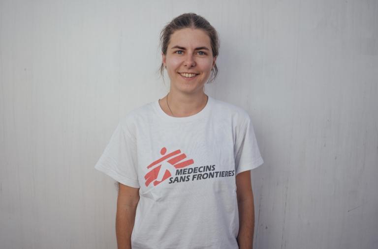 Stefanie Hofstetter, responsable del equipo médico, 31 años, Alemania. Esta es la segunda vez que Stefanie está a bordo con MSF para una misión de búsqueda y rescate, tras haber navegado con el Aquarius durante cuatro meses en 2018.