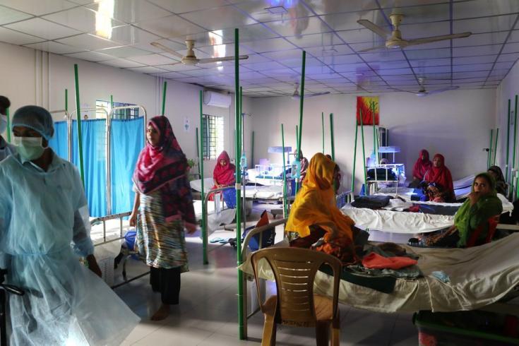 Sala en el hospital maternoinfantil Goyalmara de MSF, al sur-este de Bangladesh