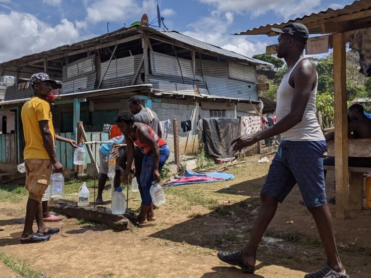 Bajo Chiquito es el primer lugar al que llegan las personas migrantes que atraviesan el bosque de Darién. Entre enero y mayo de 2021 llegaron más de 15.000 personas a Panamá. Abril de 2021