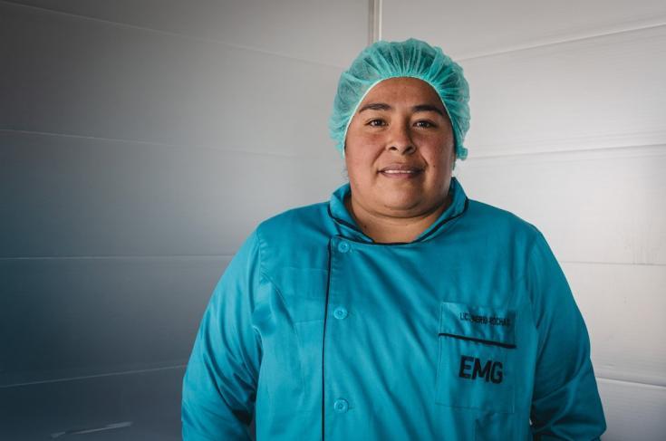 """Ingrid Rocha, jefa de enfermeras del hospital Andrés Cuschieri del municipio de Colcapirhua, en el departamento de Cochabamba. """"Nunca antes nos habían dado clases de autoestima y respiración"""" dijo."""