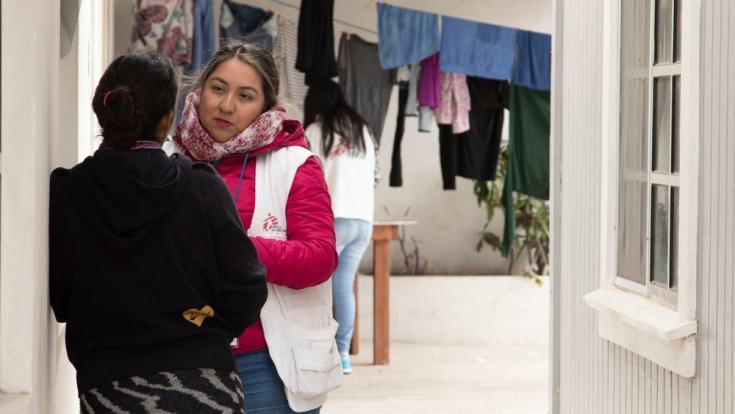 MSF proveemos servicios sociales y de salud mental a las personas solicitantes de asilo que esperan en la frontera entre México y EE.UU.