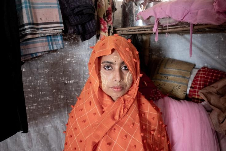 Julekha es rohingya y vive en un campo de refugiados para rohingyas en el área de Balukhali, en Cox's Bazar. Bangladesh, junio de 2021