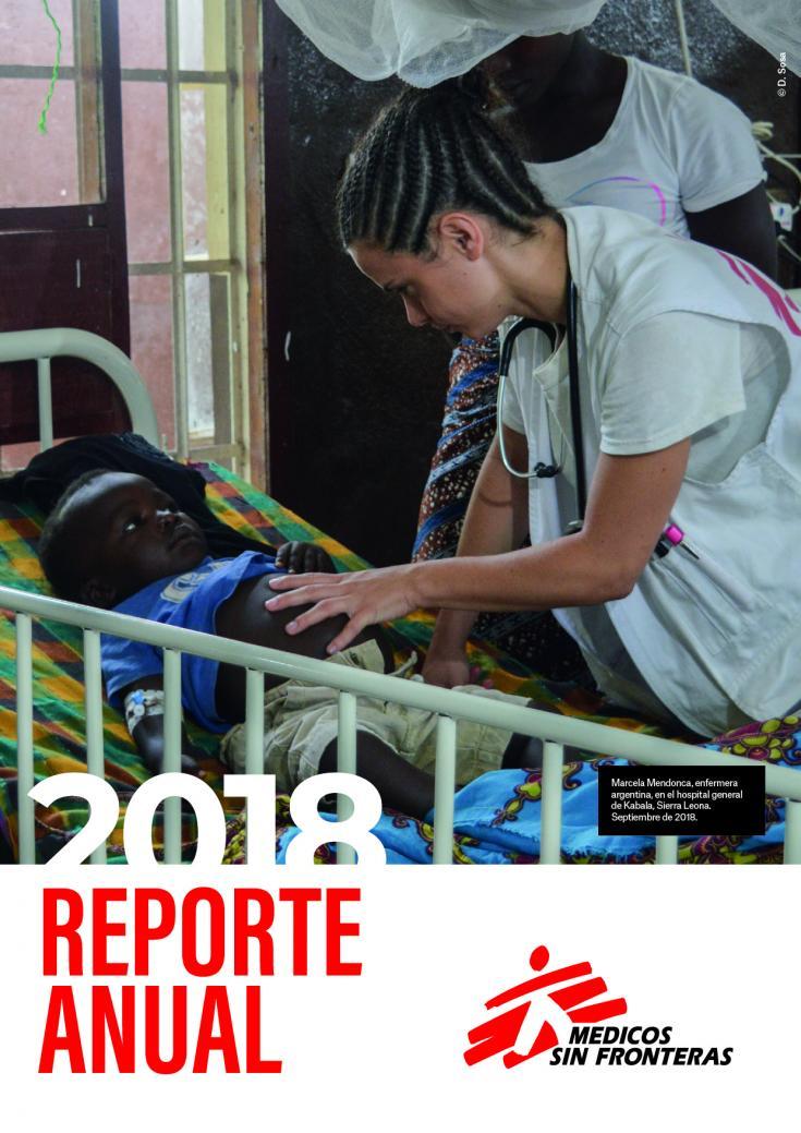 Marcela Mendoca, enfermera argentina, en el hospital general de Kabala, Sierra Leona. Septiembre de 2018.