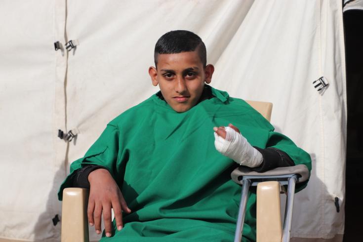 Heridos luego de un año de la guerra de Irak
