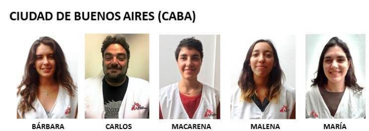 Equipo de sensibilización de Ciudad de Buenos Aires