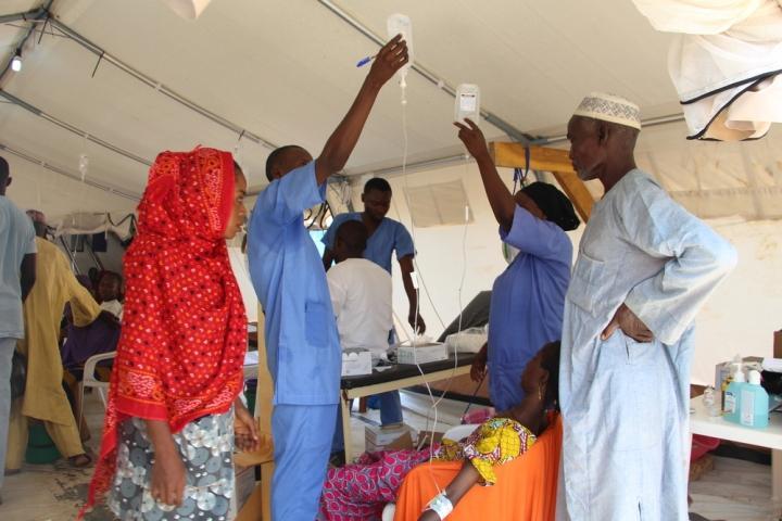 Centro de tratamiento de cólera en Nigeria