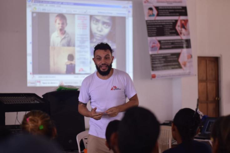 Humberto Restrepo Amón, referente de salud mental de MSF en el proyecto Catatumbo.