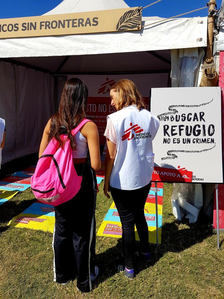 Médicos Sin Fronteras en el Lolapalooza Argentina