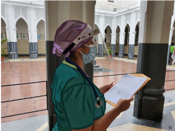 Militza Absueta, doctora especialista de la sala COVID-19 del hospital Vargas de Caracas, Venezuela, cuenta como el acompañamiento y la capacitación en manejo de duelo y malas noticias que brindamos desde MSF le han dado herramientas para acompañar.