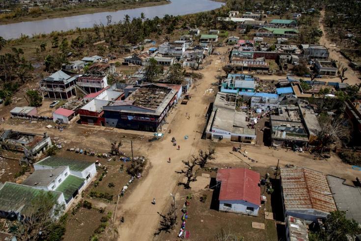 Destrucción tras el ciclón Idai en Mozambique
