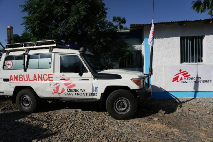 Vehículo de Médicos Sin Fronteras en la región de Amhara, Etiopía.