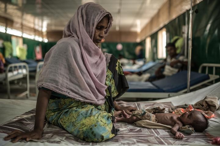 Atención materna en el campo de refugiados rohingya