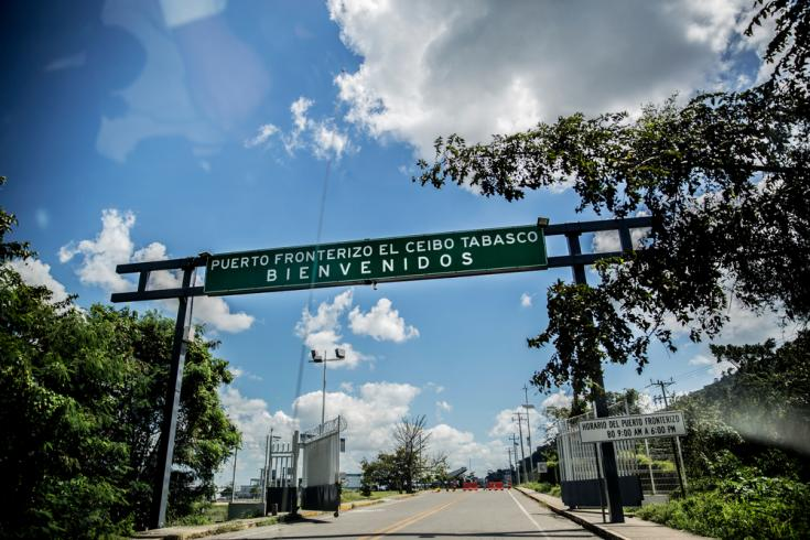 Cruce fronterizo Guatemala México