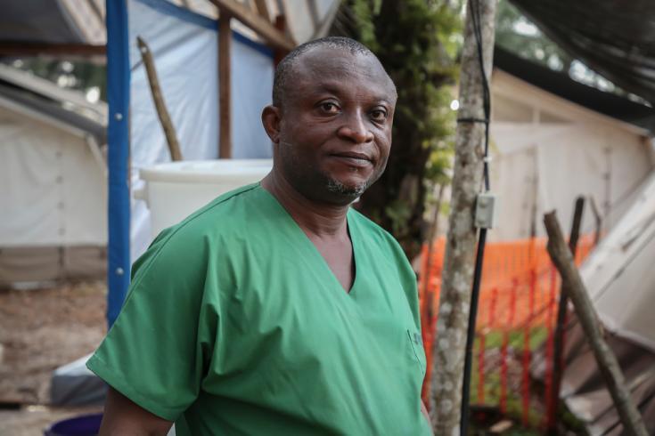 Profesional de Médicos Sin Fronteras en República Democrática del Congo