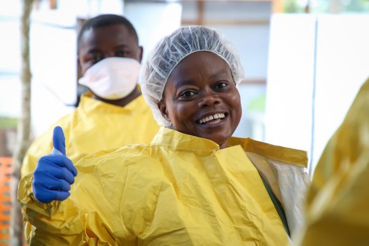 Enfermera que lucha contra el Ébola en República Democrática del Congo