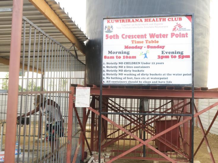 Brote de cólera en Harare, la capital de Zimbabue