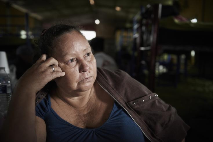 Doris en Coatzacoalcos, México. Dejó Honduras por las maras.