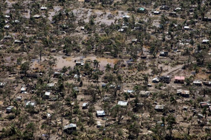 Vista aérea de la ciudad de Buzi y la devastación causada por el ciclón Idai, en marzo de 2019.
