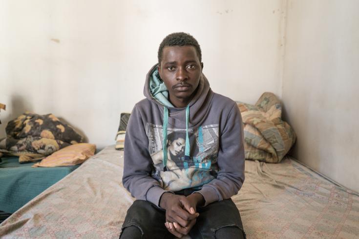 M., 21 años, de Guinea, en Italia.