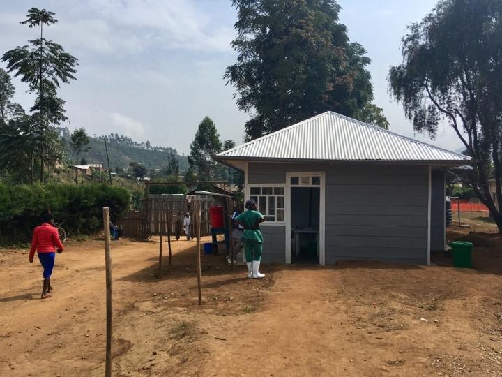 La entrada del Hospital General de Lubero, Kivu del Norte, en República Democrática del Congo.
