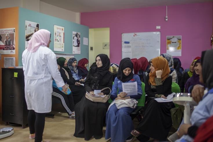 MSF ofrece un paquete integral de salud sexual y reproductiva en el campamento Bourj Al Barajneh en el sur de Beirut (Líbano), 2019.