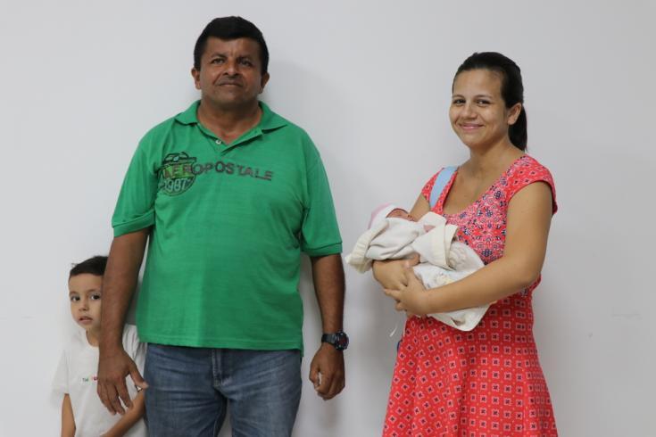 Marilyn Díaz y su familia, venezolanos en Colombia.