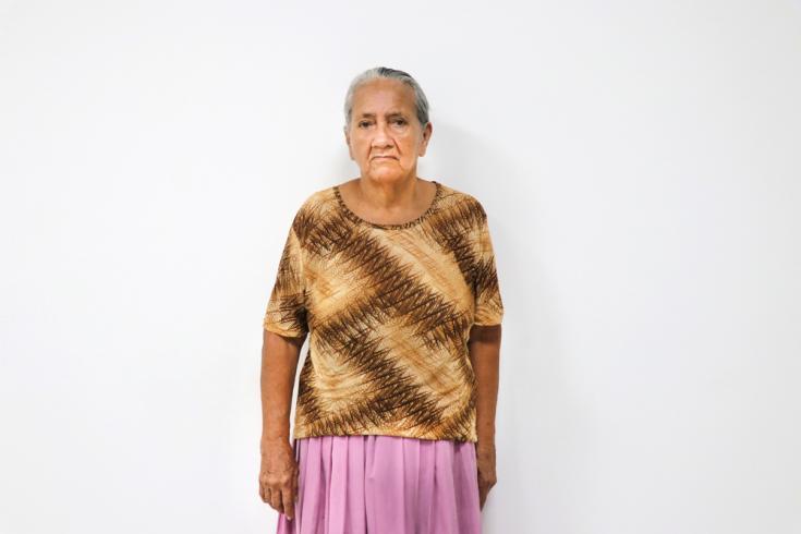 Marimelda Gélvez tiene 75 años y nació en Venezuela, pero vivió toda su vida en Colombia. Sufre de presión alta y gracias a Médicos Sin Fronteras consiguió la medicación que necesitaba pero no podía comprar.