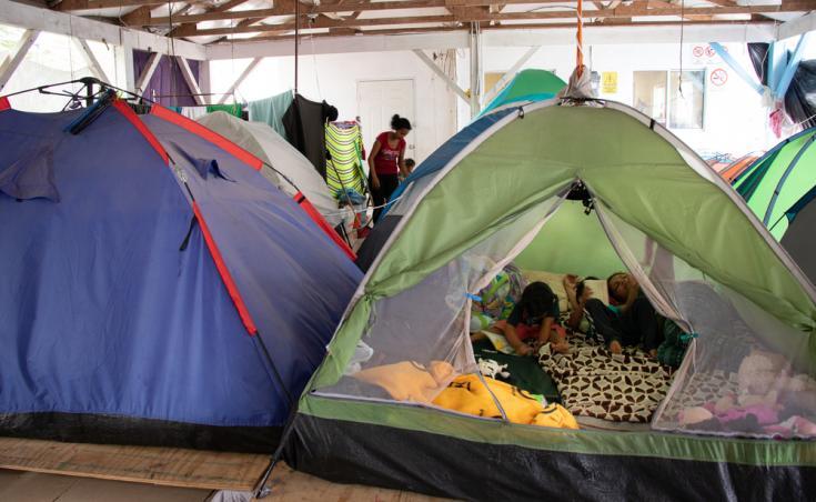 Médicos Sin Fronteras ofrece asistencia médica y psicosocial a migrantes y refugiados en varios albergues saturados de Nuevo Laredo, Reynosa y Matamoros, en Tamaulipas.