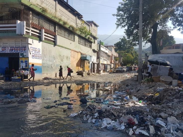 Calle en Martissant, Haití.