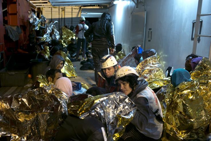 Rescatados a bordo del Ocean Viking