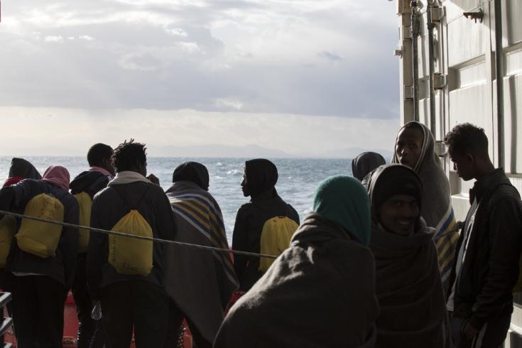 Personas rescatadas a bordo del Ocean Viking