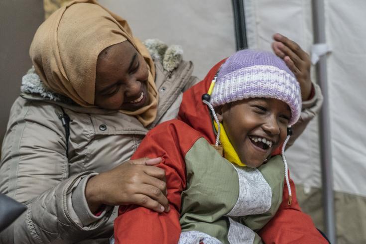 """""""Tengo un hijo que está enfermo, totalmente paralizado, sufre epilepsia y ni siquiera puede dormir"""", cuenta su madre Raido."""