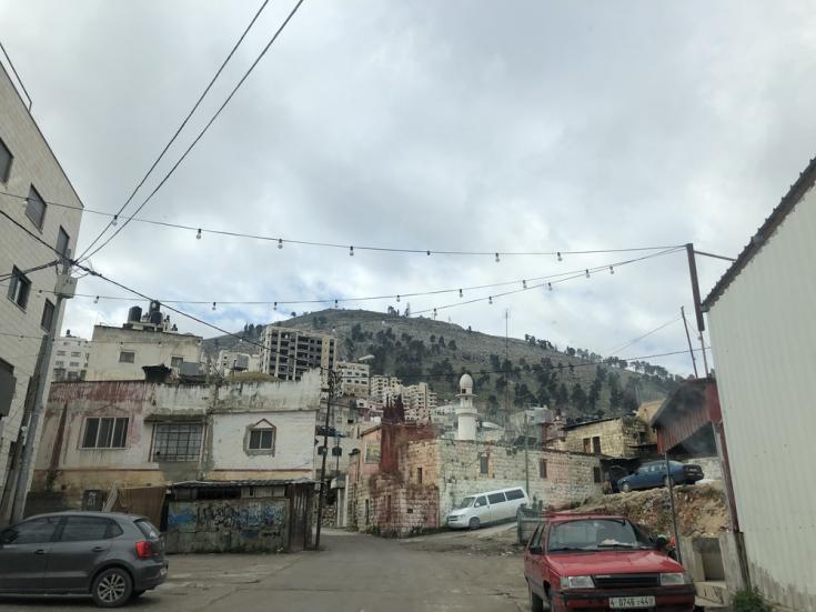 Vista aérea de Nablus, 48 km al norte de Jerusalén.
