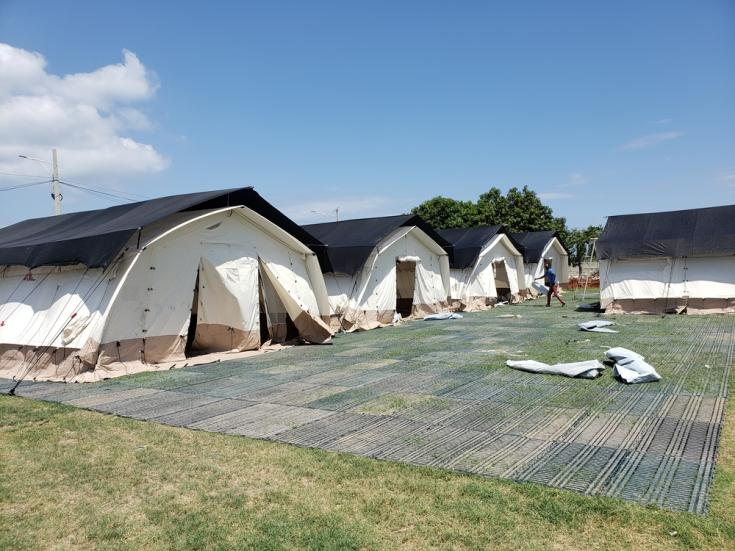 Médicos Sin Fronteras (MSF) ha abierto un centro de tratamiento COVID-19 en Drouillard, Haití, con una capacidad de 20 camas que puede ampliarse hasta 45.
