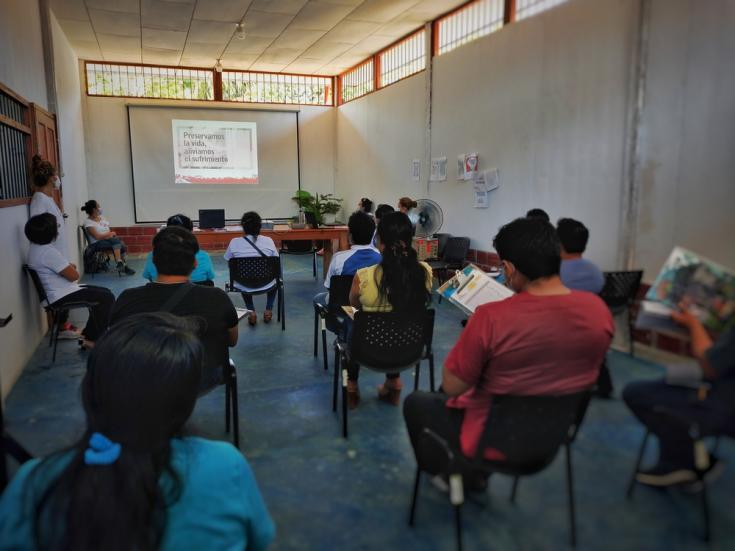 Médicos Sin Fronteras (MSF) reliza actividades de capacitacion y promoción de la salud al primer grupo de formación.