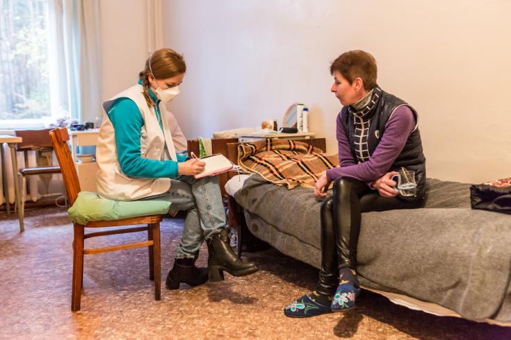 Paciente con tuberculosis en Ucrania