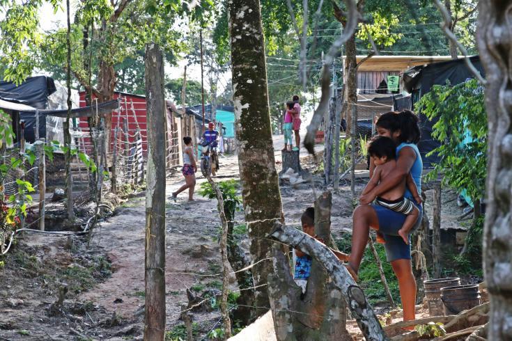 Casas precarias en Tibú, Colombia
