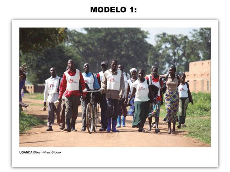 Tarjeta solidaria - Modelo 1
