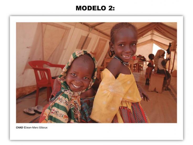 Tarjeta solidaria - Modelo 2