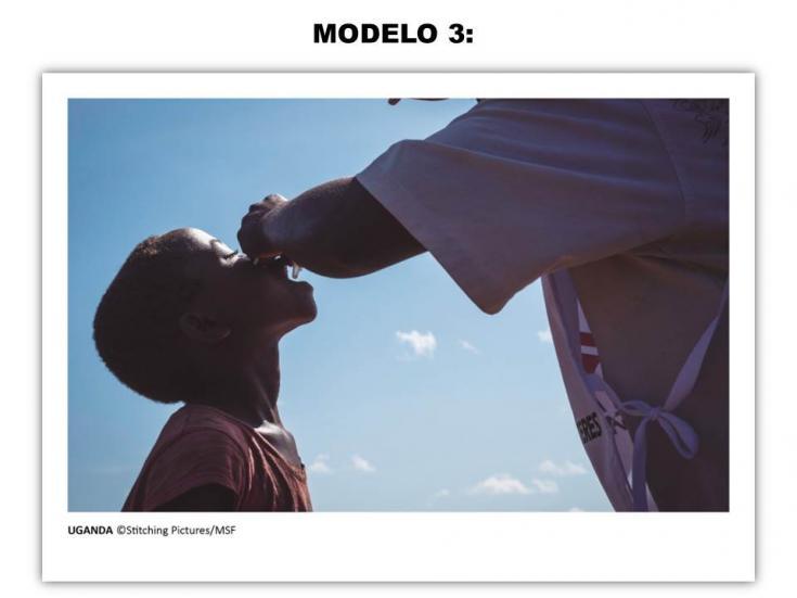 Tarjeta solidaria - Modelo 3
