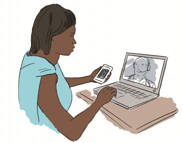 Medicina en conferencia web en tiempo real