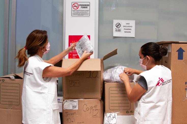 María Rado coordinando la operación de Tijuana, México
