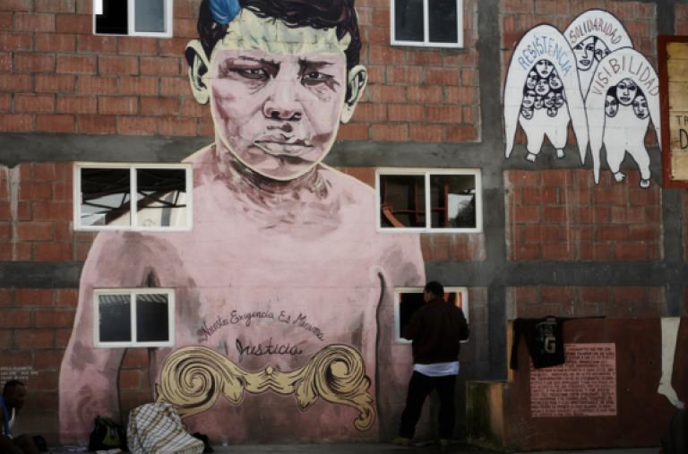 """Albergue """"La 72"""" en Tenosique, Tabasco. Se estima que más de 300.000 migrantes centroamericanos anualmente se atreven a internarse en el peligroso territorio mexicano con la esperanza de llegar a Estados Unidos. ©Christina Simons/MSF"""