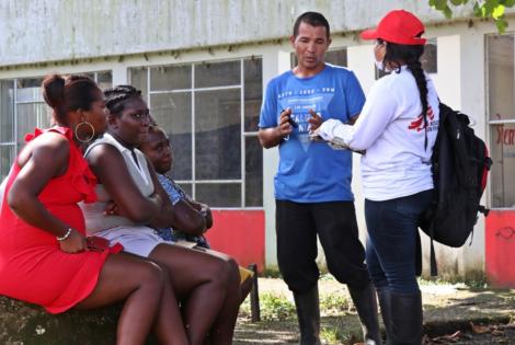 Hablamos con la población en situación de desplazamiento en el municipio de Roberto Payán. Colombia, julio de 2021