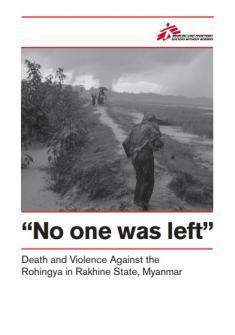 No quedó nadie - Reporte de violencia contra los rohingyas (Tapa)