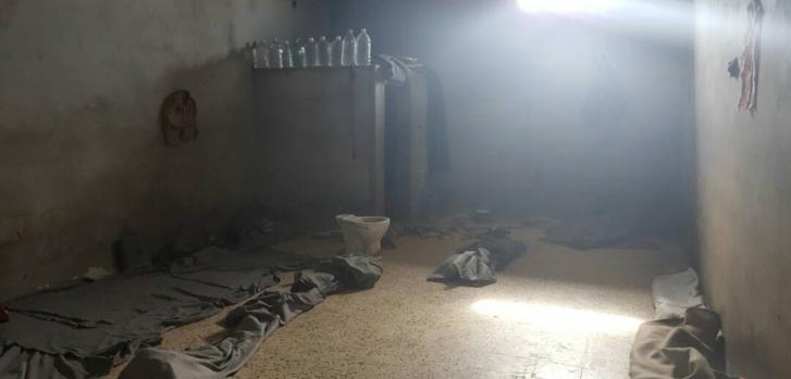 Una celda en el centro de detención en Zuwara.